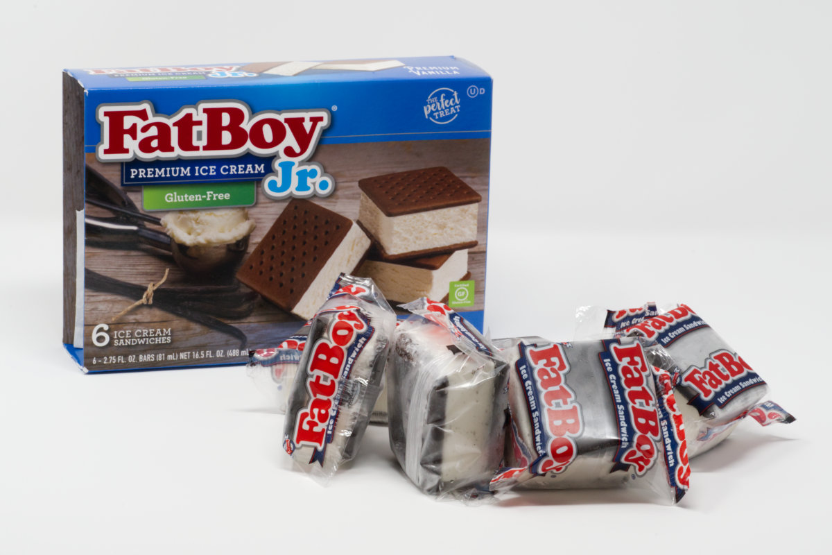 FatBoy gluten-free ice cream sandwiches